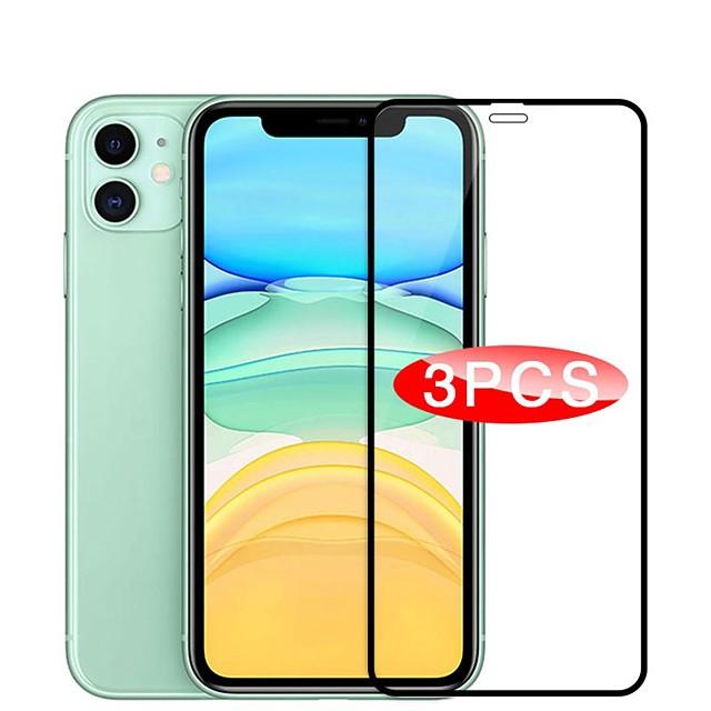 3PCS Full Coverd Tempered Glass For iPhone 12 Samsung Galaxy S21 Huawei P40 MI 10 Fingerprint Sensor Support Tempered Glass Screen Protector For iPhone 11 Galaxy Note 20 Mate 40 Redmi Note 9pro