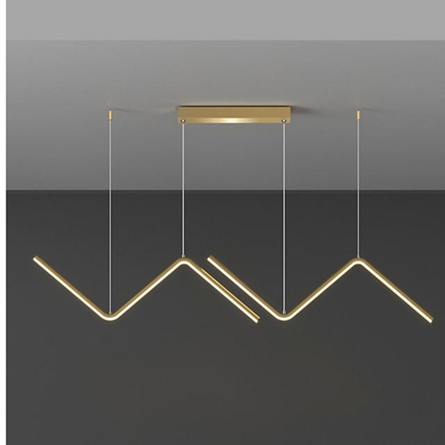 LED Pendant Light Black Gold Modern For Dining Room Restaurant Living Room 90 cm Line Design Aluminum Stylish Black Nordic Style 220-240V