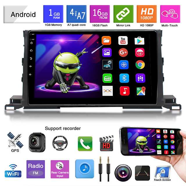 suitable for toyota 15-19 highlander car android gps navigation all-in-one car bluetooth reversing image