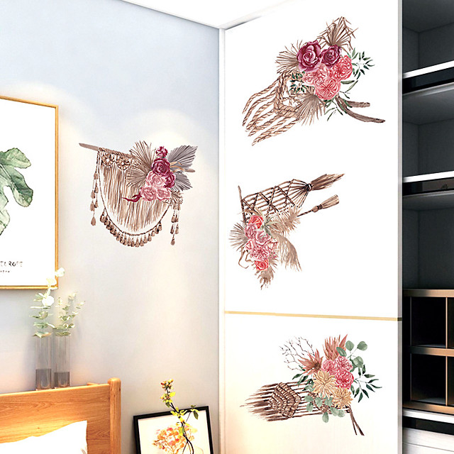 Wall Sticker Retro Ethnic Wind Dream Net Wall Stickers Bedroom Bed Porch Cabinet TV Wall Decoration Wall Stickers