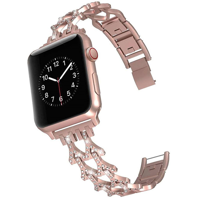 Smart Watch Band for Apple iWatch 1 pcs Jewelry Design Zinc alloy Replacement  Wrist Strap for Apple Watch Series SE / 6/5/4/3/2/1