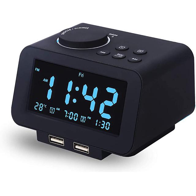 K8 Clock Radios FM Radio Alarm Clock Sleep Aid for DC Powered