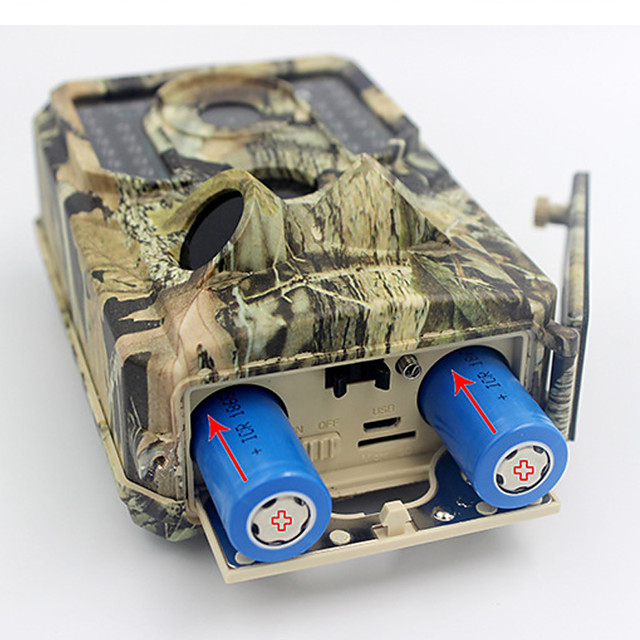 3Photos + 10sVideo Hunting Trail Camera / Scouting Camera 3MP Color CMOS 1920*1080 3 Infrared Sensors Portable Motion Detection Night Vision 120° Detecting Range 2'' LCD Hunting Traveling Outdoor