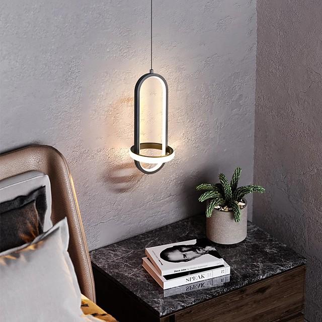 LED Pendant Light Bedside Lamp Black Gold 35 cm Single Design Pendant Light Aluminum Artistic Style Modern Style Painted Finishes Artistic Modern 110-120V 220-240V