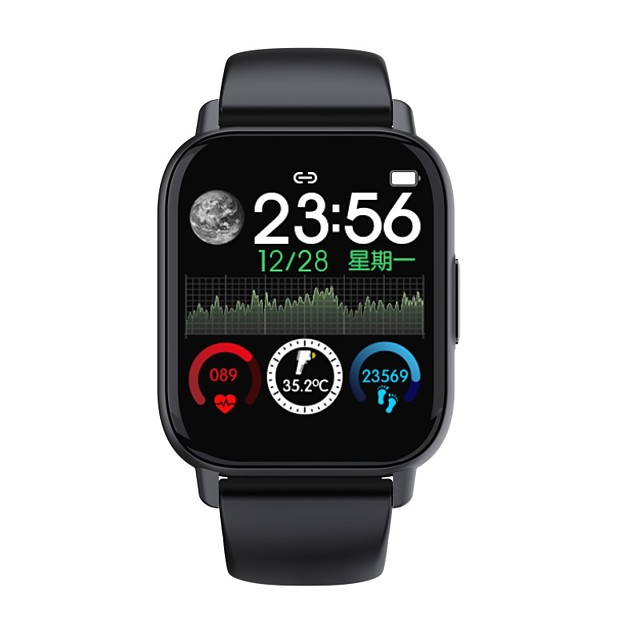 QS16 Smartwatch for Apple/ Android Phones, Sports Tracker Support Heart Rate / Blood Pressure Measure