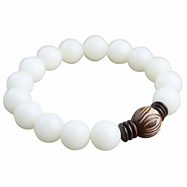 white bodhi root bracelet white jade bodhi seed lotus bead bracelet
