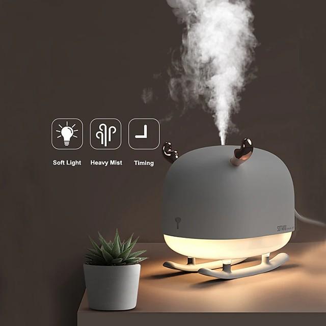 260 ml slee herten ultrasone luchtbevochtiger aroma etherische olie diffuser voor thuis auto usb fogger mist maker met led nachtlampje