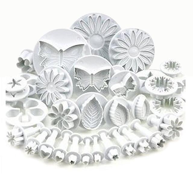 Plunger Fondant Cutter 33 Pcs Set Cake Tools Cookie Mold Biscuit Mould DIY Craft 3D Bakeware Sets Baking Accessories