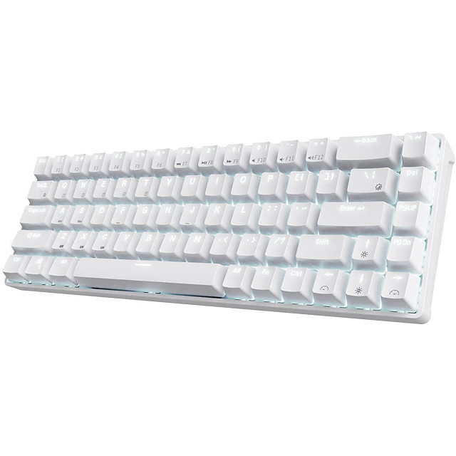 RK68 Wireless Bluetooth Mechanical Keyboard Gaming Gateron Blue Switches 65% Compact 18 Diversified Light Effects 3 on-board Macro Keys Software DIY-ROYAL KLUDGE