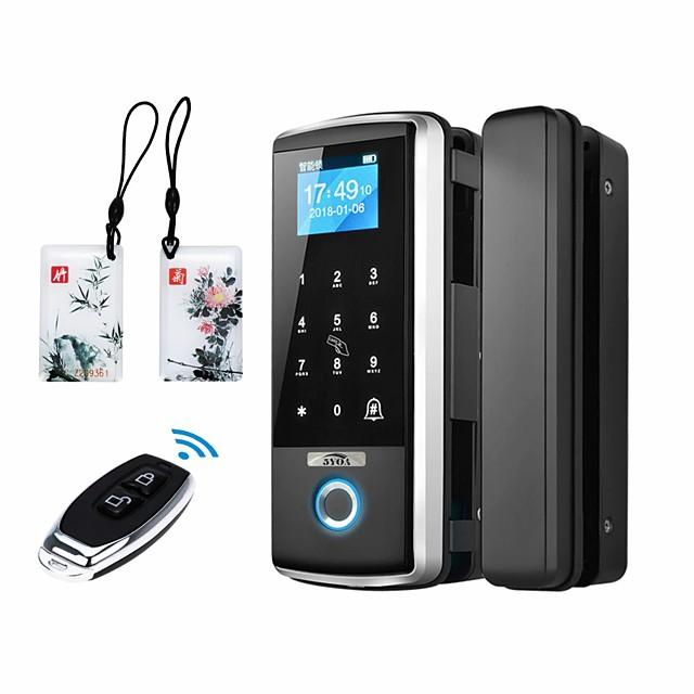 Bangchen kontor glasdörr fingeravtryckslås lösenordslås gratis hål smart dörrlås dubbel dörr fjärrkontroll närvaro åtkomstkontrollås