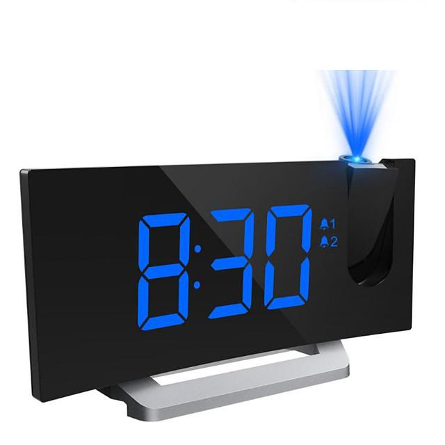 EN8830-1 FM Radio Digital Alarm Clock 12/24H DST Snooze Function Dual Alarms Adjustable Alarm Volume Adjustable Brightness Dimmer Outlet powered for Kids Heavy Sleepers Adult DC Powered