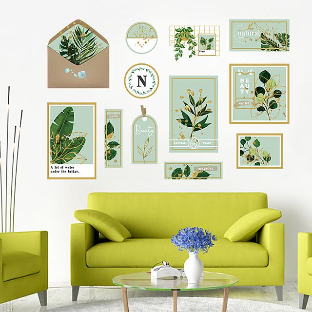 Wall Sticker Small Fresh Artistic Green Plant Photo Frame DIY Bedroom Porch Wall Beautification Decorative Wall Sticker