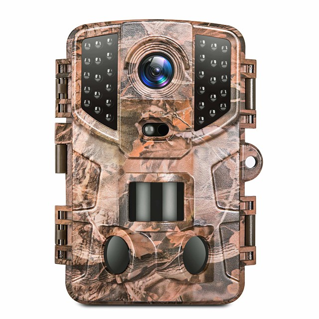 Trail Camera 20MP 1080P Hunting Game Cam with Night Vision Motion Waterproof Scouting Camera with 3 Infrared Sensors 120° Detecting Range for Wildlife 32pcs IR LEDs 3 Infrared Sensors Portable