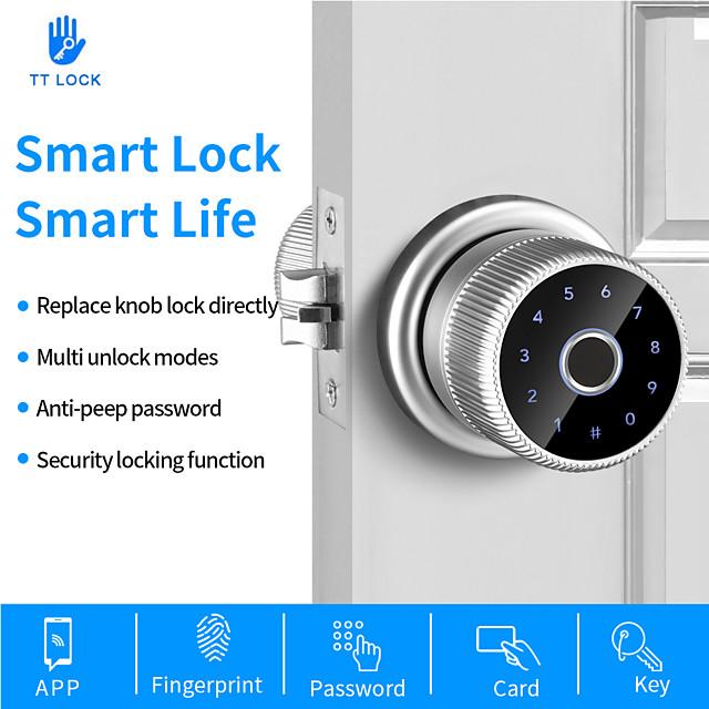 WAFU (WF-Q1)Fingerprint Door Lock TT Lock Bluetooth Digital Keyboard Smart Card Combination knob Lock For Home / Office / Hotel DIY Lock