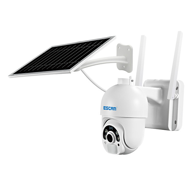 ESCAM QF250 1080P Cloud Storage WIFI Battery PIR Alarm dome IP Camera With Solar Panel Full Color Night Vision Two Way Audio IP66