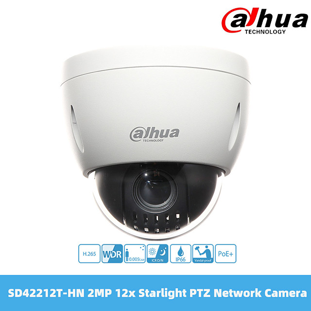 dahua 2mp 12x starlight ptz security ip network camera sd42212t-hn ivs poe+ port ip66 k10