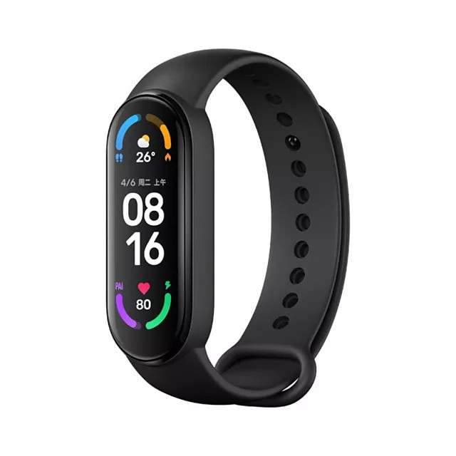 Xiaomi band 6 Smart Wristband for Android iOS Bluetooth 1.56 inch Screen Size Touch Screen Blood Pressure Measurement Sports Smart Blood Oxygen Measurement Pedometer Men Women