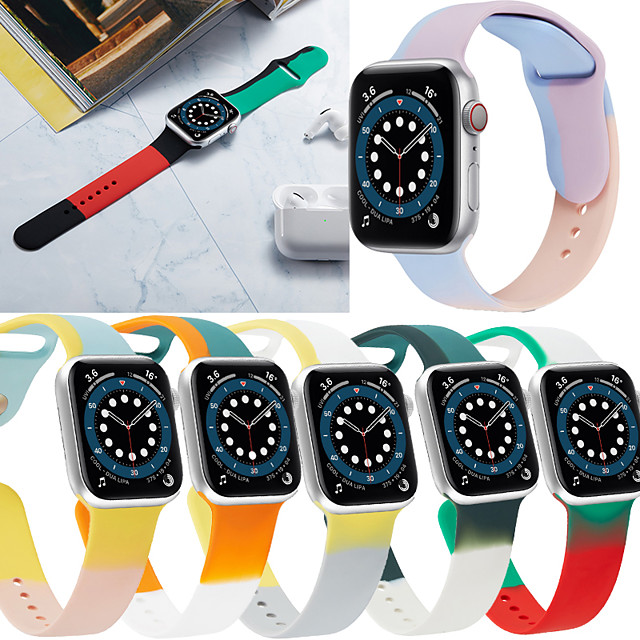 Smart Watch Band for Apple iWatch 1 pcs Printed Bracelet Silicone Replacement  Wrist Strap for Apple Watch Series SE / 6/5/4/3/2/1