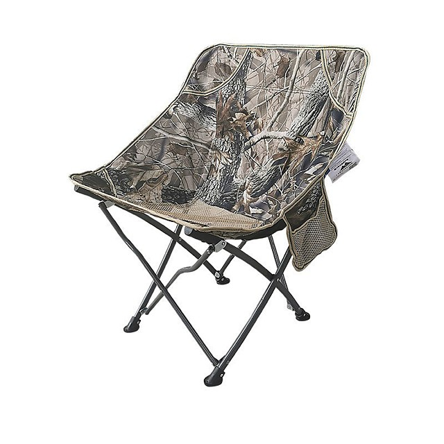 Camping Chair with Side Pocket Portable Ultra Light (UL) Multifunctional Foldable Aluminum Alloy for 1 person Fishing Beach Camping Traveling Autumn / Fall Winter Camouflage Blue Grey Dark Blue