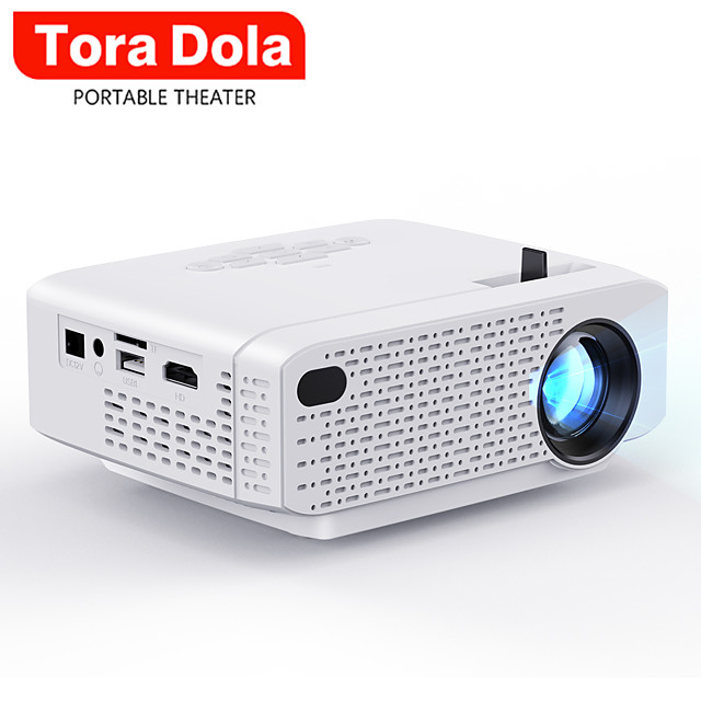 TORA DOLA MINI Projector for Home Theater Portable Video Projector Support Full HD 1080P Cinema Android 7.0 WIFI D3
