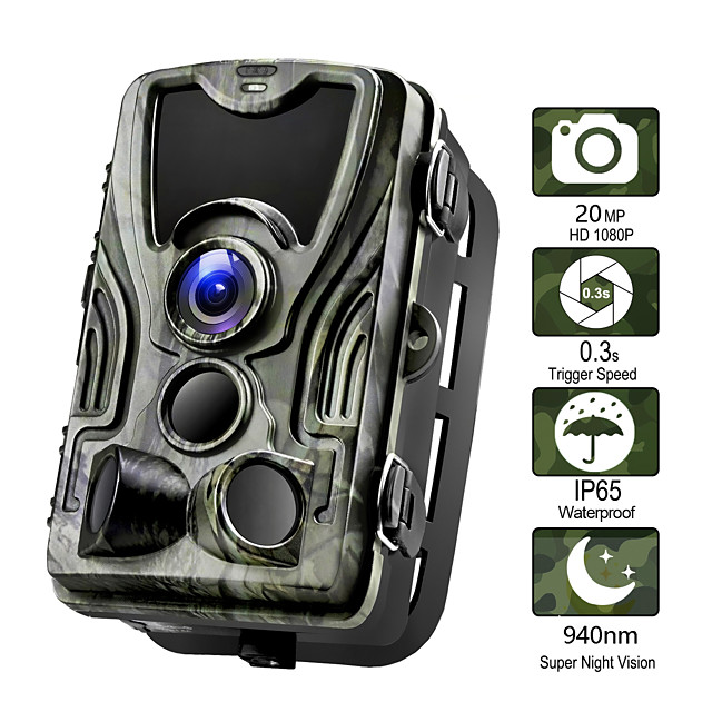Hunting Camera 20MP Trail Camera Night Vision Forest Waterproof Camera Photo Traps Camera Chasse Scouts 2'' LCD 36pcs IR LEDs 120° Detecting Range  3 Infrared Sensors