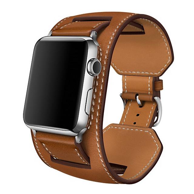 Pulseira de Smartwatch para Apple  iWatch 1 pcs Banda de negócios Couro Legitimo Substituição Tira de Pulso para Apple Watch série SE / 6/5/4/3/2/1