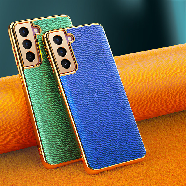Phone Case For Samsung Galaxy Back Cover S21 Shockproof Dustproof Solid Colored TPU