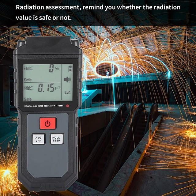 et825 electromagnetic field radiation detector tester emf meter rechargeable handheld portable counter emission dosimeter