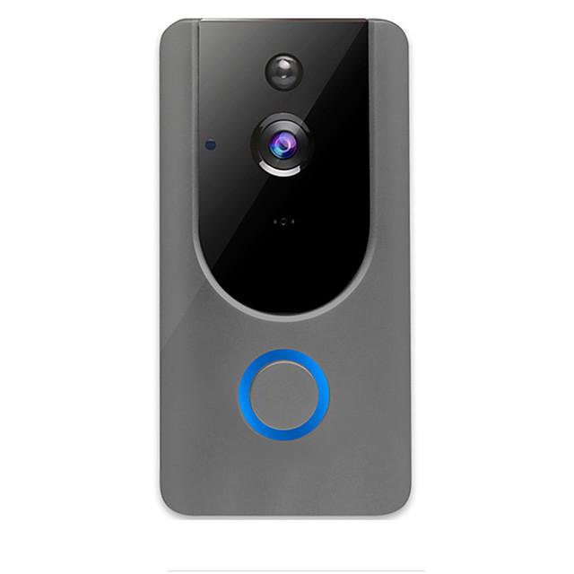 Wireless Smart WiFi DoorBell Camera Video Phone Door Visual Ring Intercom with Night IR Vision Door Bell Home Secure Camera