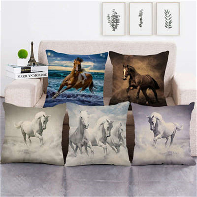 Double Side Cushion Cover 1PC Linen Soft Decorative Square Throw Pillow Cover Cushion Case Pillowcase for Sofa Bedroom Superior Quality Machine Washable