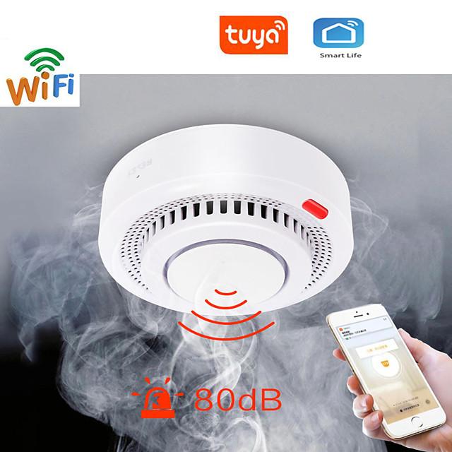 Tuya WiFi Smoke Alarm Fire Protection Smoke Detector Smokehouse Combination Fire Alarm Home Security System Fire Brigade