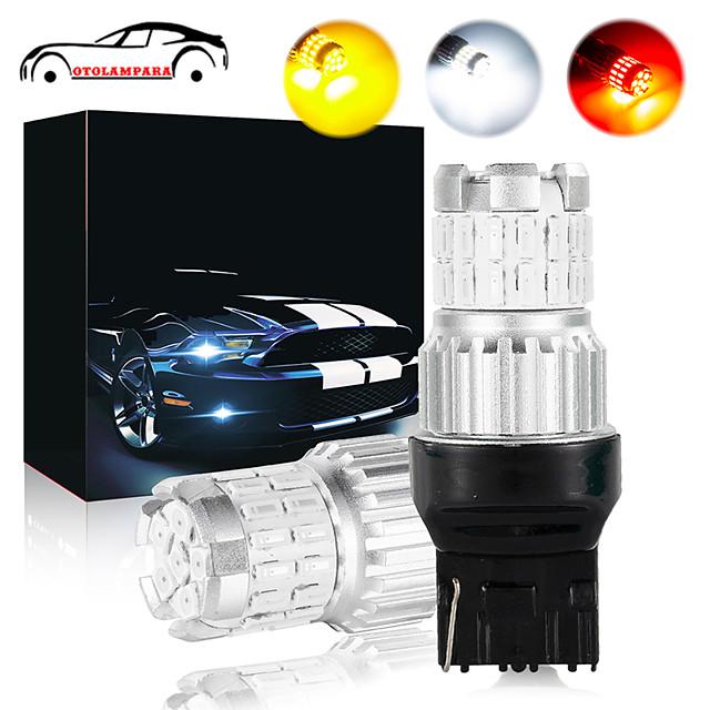 OTOLAMPARA Car CAN-bus LED T20 21W Car 7440 LED Stop Brake Light Super Bright 7443 Bulb 3157 Backup Reverse Light Function White Amber Red Colors Optional 2pcs