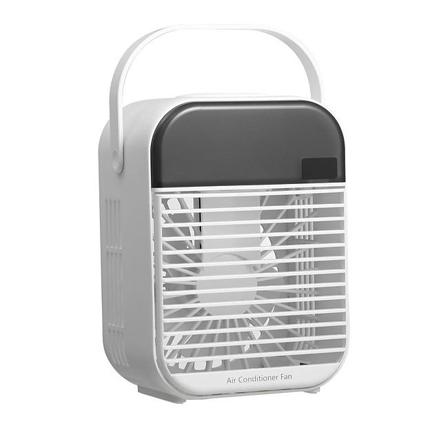 Cooling New Upgrade Small 3-Speed  Air Conditioner Humidifier Purifier Desktop Air Cooler Fan Mini Portable Air Conditioner Air Cooler Fan with Water Tanks for Home Office
