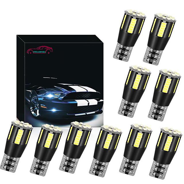 OTOLAMPARA Car CAN-bus LED T10 for BMW/ Audi/ Volkswagen/ Peugeot/ Hyundai/ Honda/ Toyota/ Ford/ Nissan Interior Reading Light W5W White 158 194 LED Bulb for Side Marker Lights 10pcs