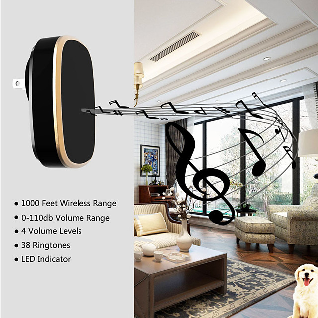 Smart Doorbell One for Two Wireless Household Dingdong Doorbell Electronic Waterproof Remote Control Pager Wholesale