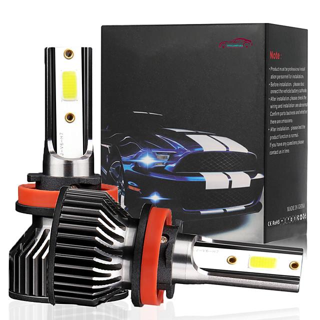 OTOLAMPARA Mini Model LED Headlight Kit H11 H1 H4 H7 9005 9006 Headlight Replacement Bulb 6500K White Color 2pcs