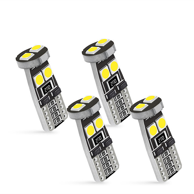 OTOLAMPARA 4 in1 Car 158 194 W5W LED Interior Dome Reading Lamp CAN-bus T10 LED Bulb 6000K 6W Car Map Light White Color Lightness 4pcs