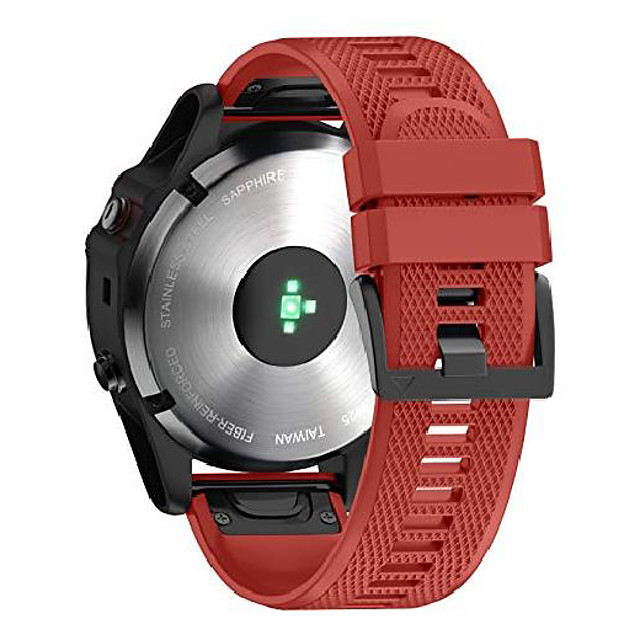 smartwatch band bracelet for garmin fenix 6x / fenix 6x pro / fenix 5x / fenix 5x plus / fenix 3 / fenix 3 hr, 26mm wide silicone estraz strap quick-fit watch strap for garmin
