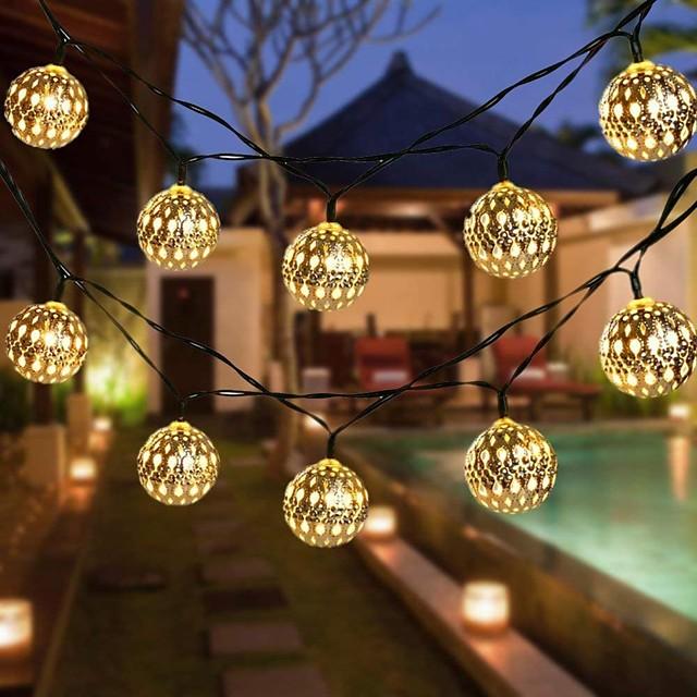 Outdoor 30 LED Solar Fairy String Light Garden Path Yard Decor Lamp Waterproof Q