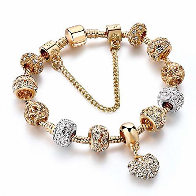 luxury crystal heart charm bracelets&bangles gold bracelets for women jewellery pulseira feminina bracelet gifts for women girl gifts valentines/birthday/anniversary/mother's day