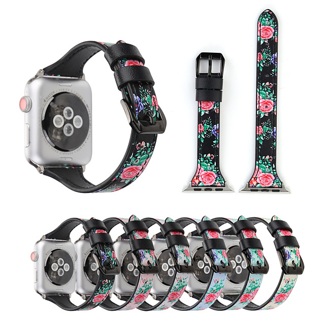 Smart Watch Band for Apple iWatch 1 pcs Printed Bracelet Canvas Replacement  Wrist Strap for Apple Watch Series SE / 6/5/4/3/2/1