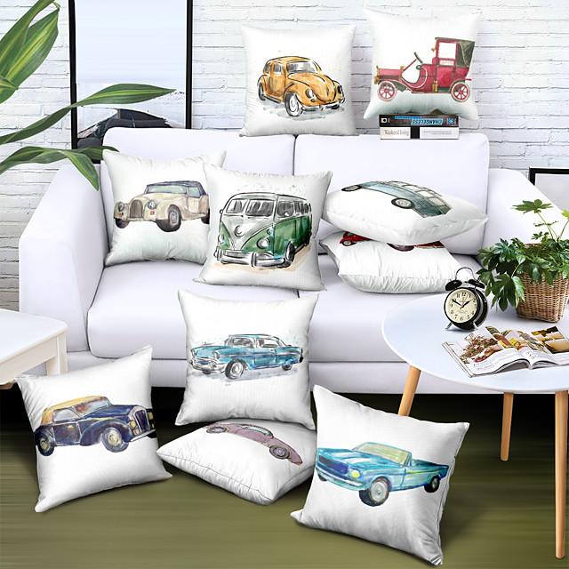 Husă de pernă laterală dublă 1 buc Faux lenjerie moale decorativă pătrată acoperă pernă husă de pernă pentru canapea dormitor calitate superioară lavabilă în mașină