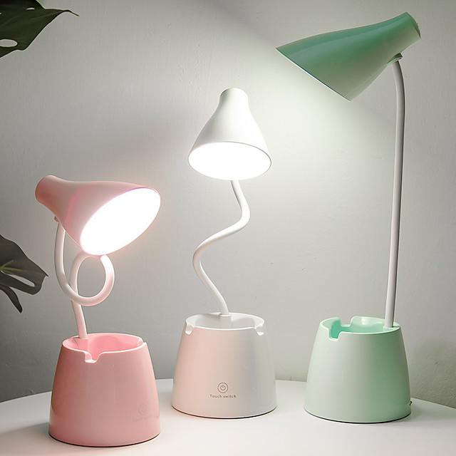 Desk Lamp Reading Light Dimmable Modern Contemporary USB Powered For Indoor Office 5V White