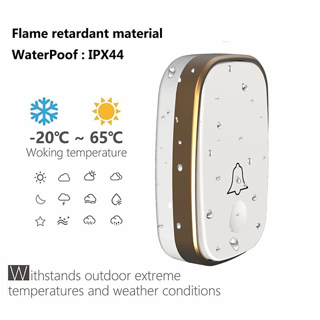 Doorbell Smart Wireless Remote Receiver Control of Household Waterproof Button Electronic Pager Door Bells