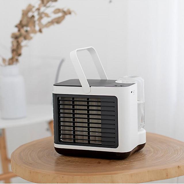 mini bærbar luftkjøler klimaanlegg opp og ned gratis justering usb personlig plass kjøler vifte luft kjølevifte oppladbart viftebord