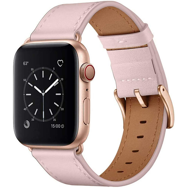 Smart watch band leather strap compatible with apple watch strap 44mm 42mm 40mm 38mm leather strap compatible with iwatch series 6 se 5 4 3 2 1
