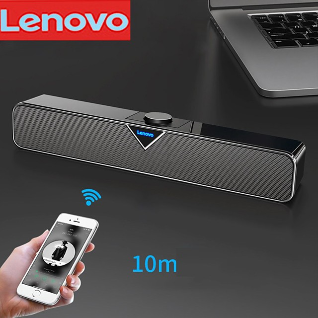Lenovo L102 Speaker Wireless bluetooth speaker Wired Bluetooth Portable Wire control function Speaker For PC Laptop Mobile Phone