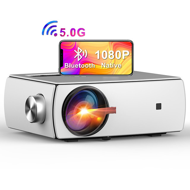 5G WiFi Bluetooth Projector YG430 Enjoy 3 Native 1080P Projector Full HD Projector  Dobby Audio DTS Home Theater Beamer Supports Zoom & Keystone Compatible with TV Stick/iOS/Android/PS4/PPT/HDMI/USB