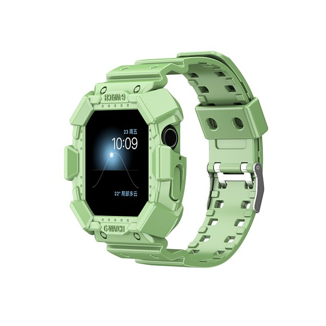 스마트 시계 밴드 용 Apple  iWatch 스포츠 밴드 실리콘 바꿔 놓음 손목 스트랩 용 애플 와치 시리즈 SE / 6/5/4/3/2/1