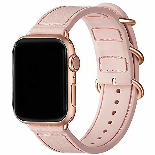Smart watch band silicone bracelet compatible with apple watch 38mm 42mm 40mm 44mm waterproof replacement of breathable sports armband soft silicone compatible with iwatch series 6/5/4/3/2/1 se